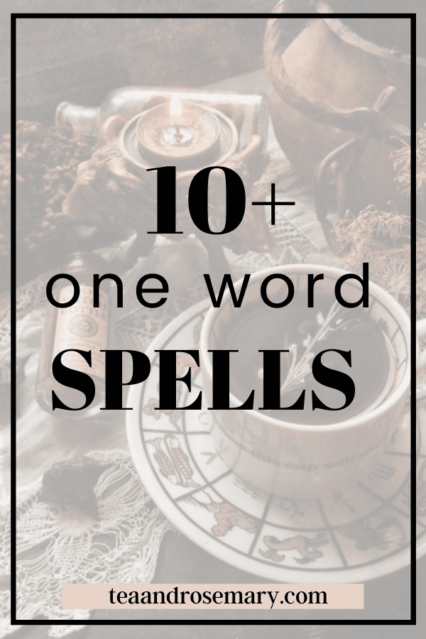 10+ One Word Spells For Instant Results